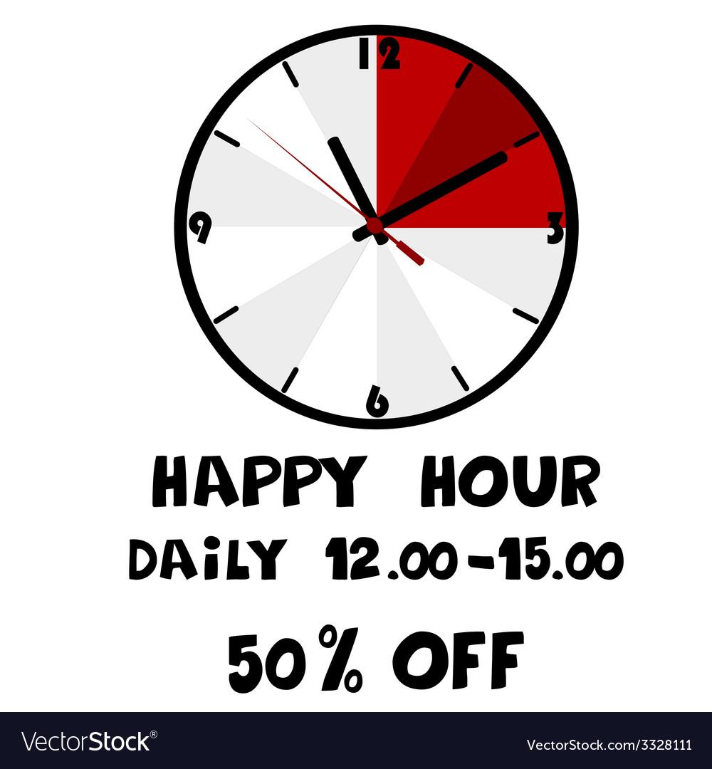 Happy hour banner vector