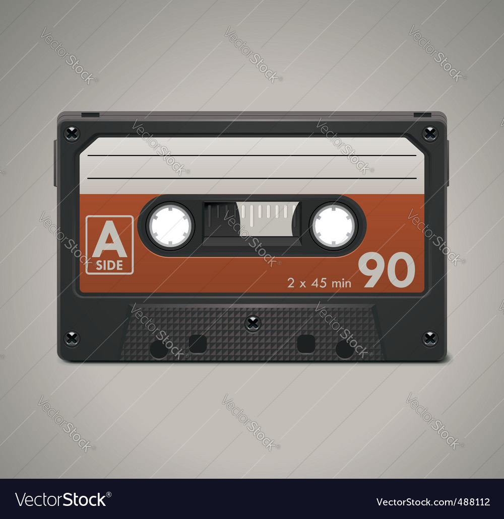 Audio cassette tape axle icon vector