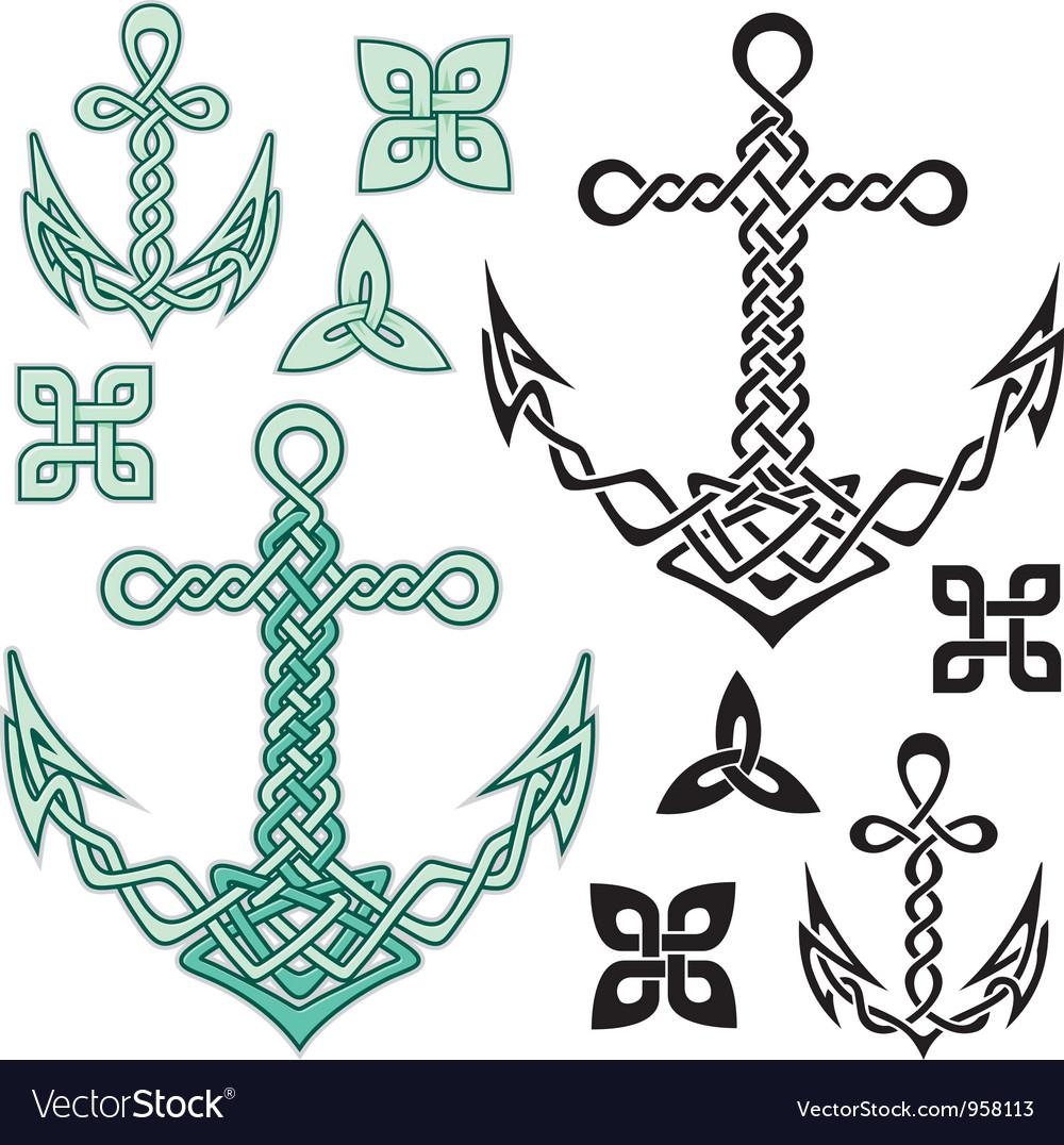 Anchor celtic vector
