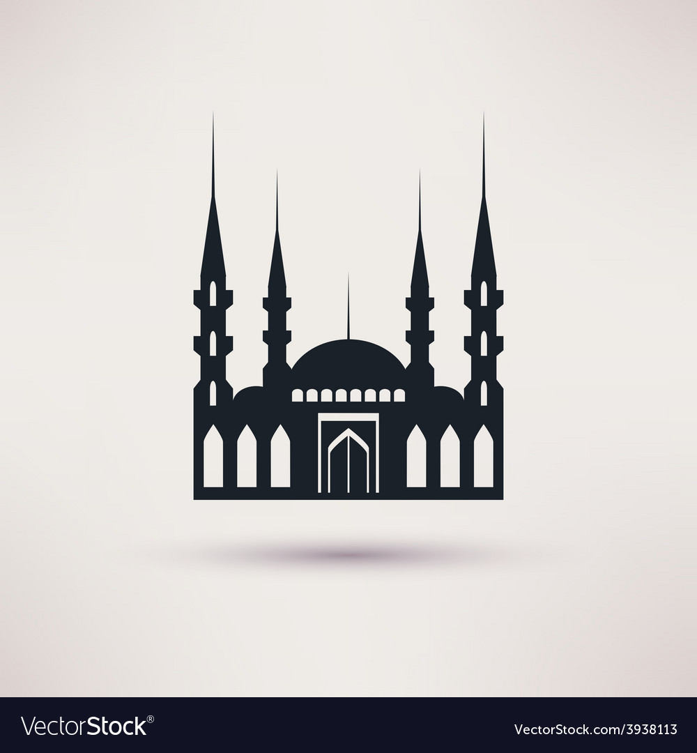 Mosque building a religious symbol icon vector