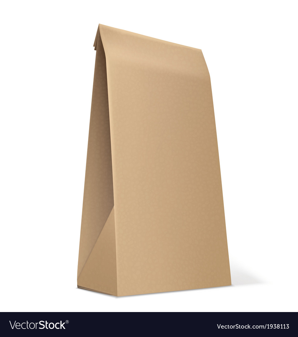 Paper bag isolated on white vector
