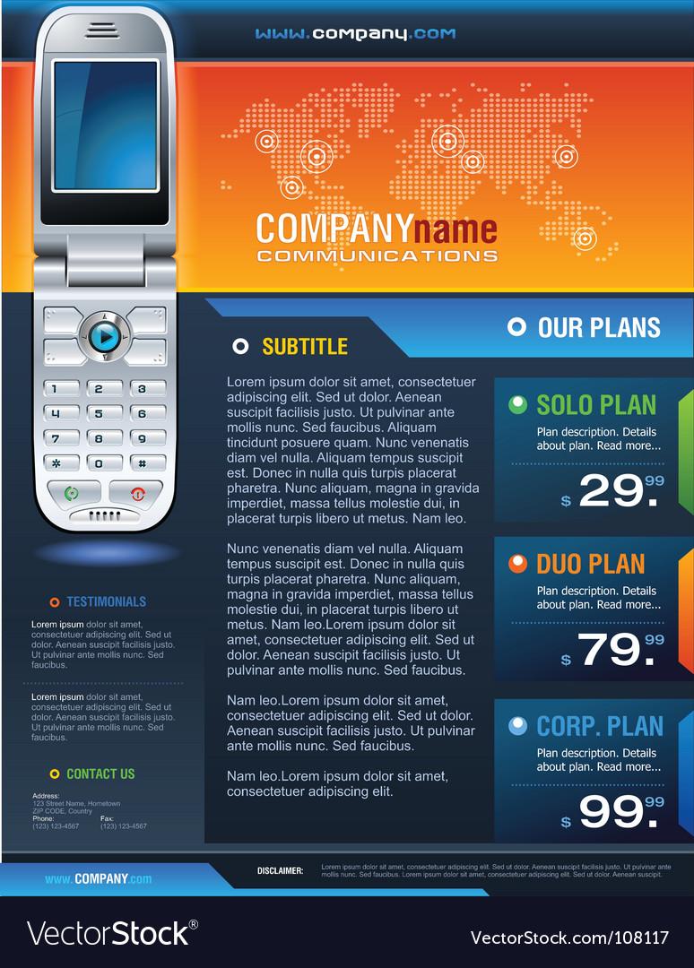 Cellpone brochure vector