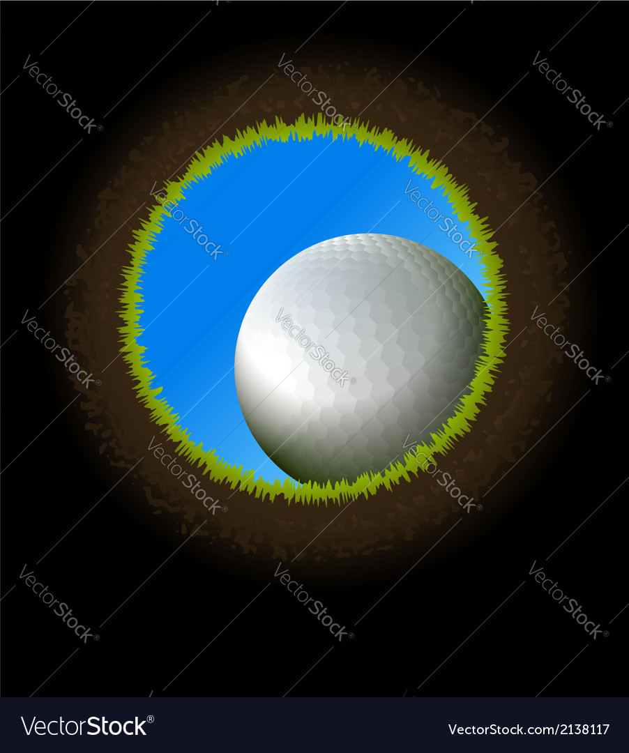 Golf ball hole vector