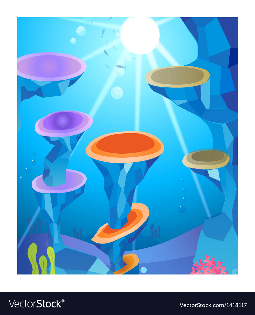 Sunlight and under water vector