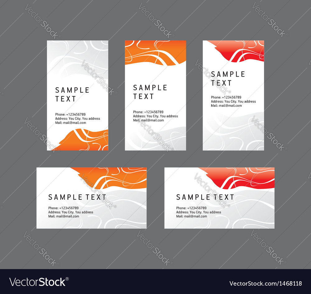 Abstract creative business card line wave colored vector