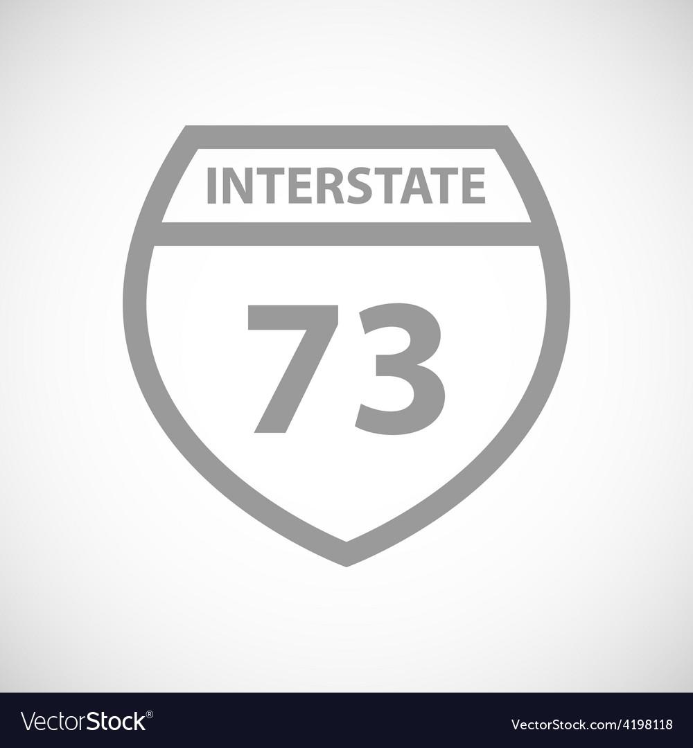 Road sign black icon vector