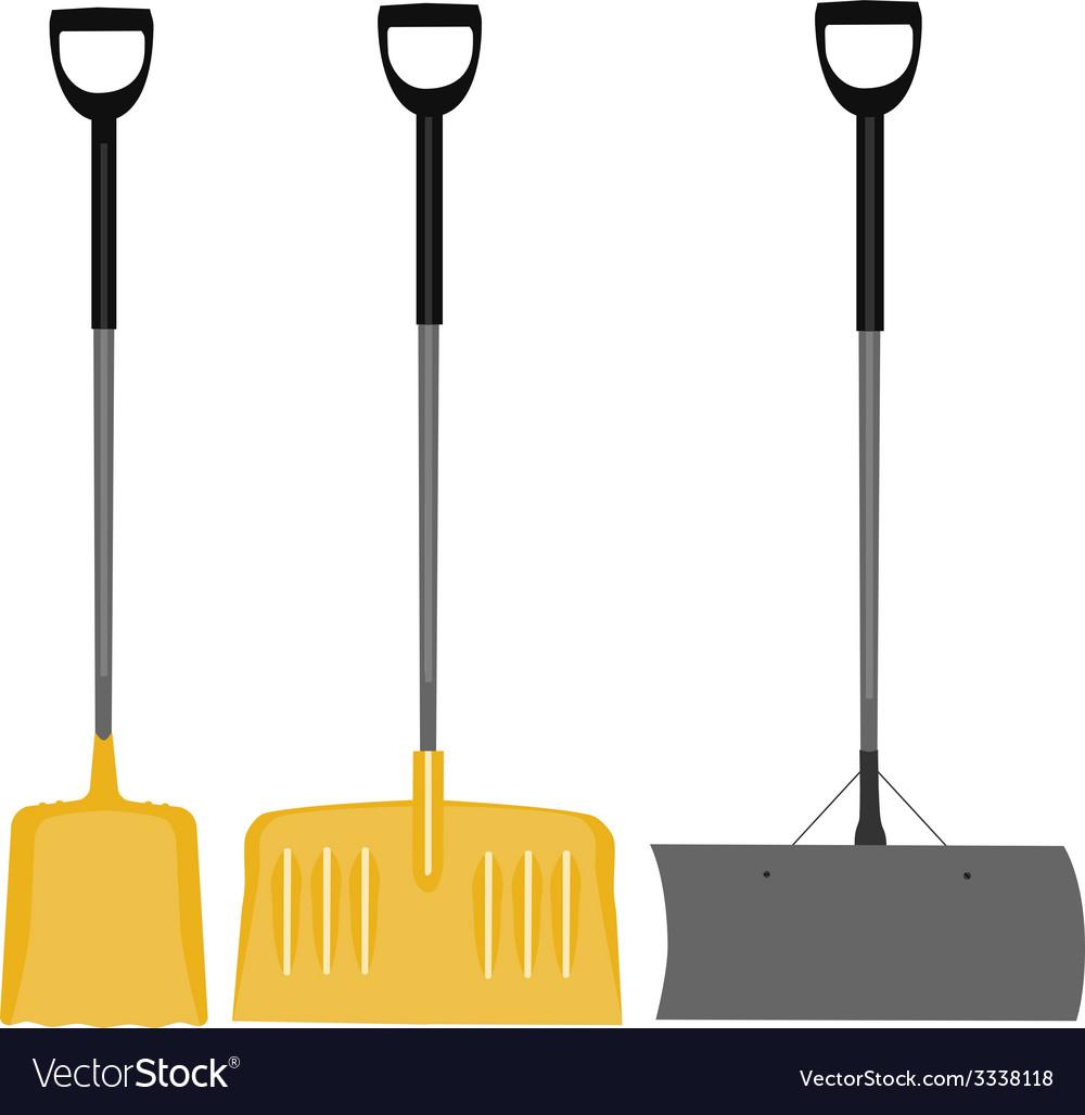 Snow shovel set vector