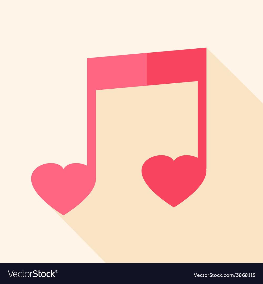 Heart shaped sheet music vector