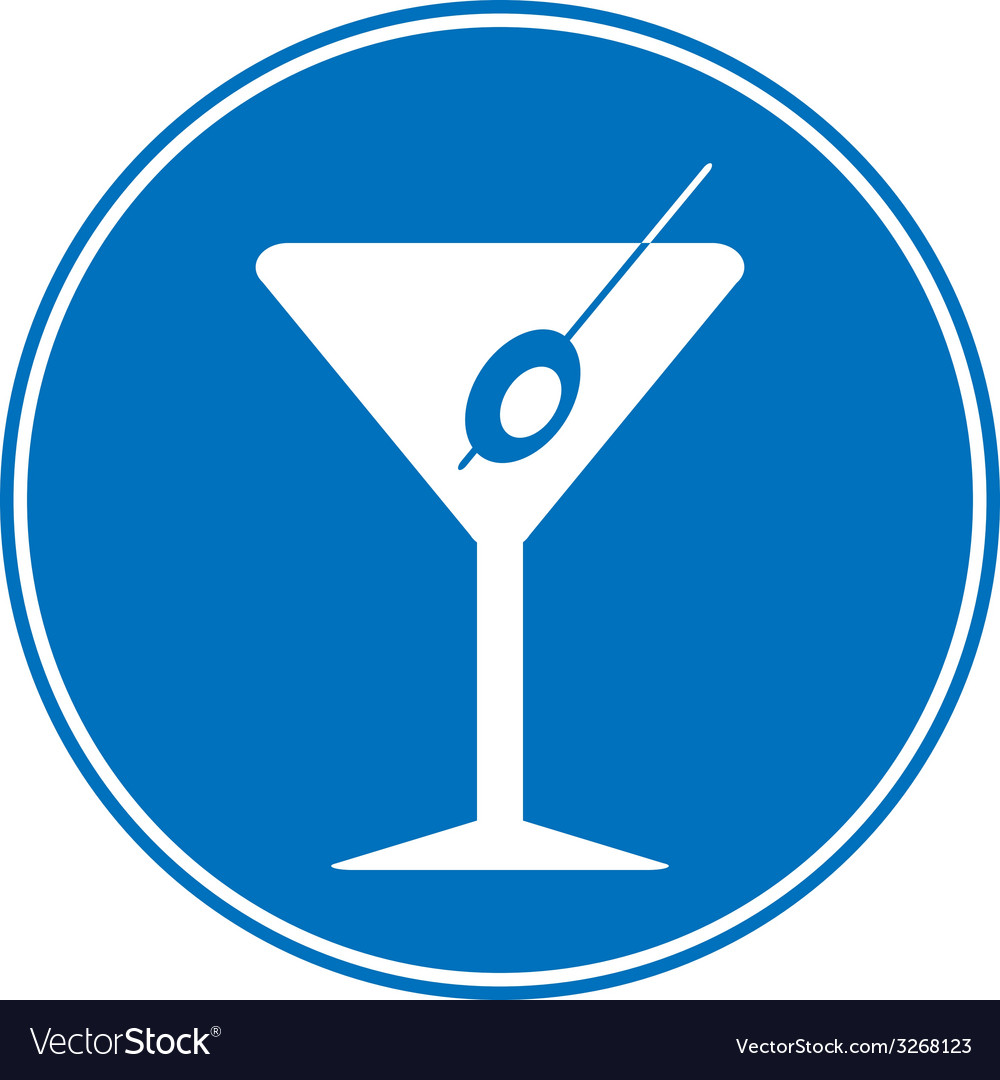 Martini sign is allowed to drink vector