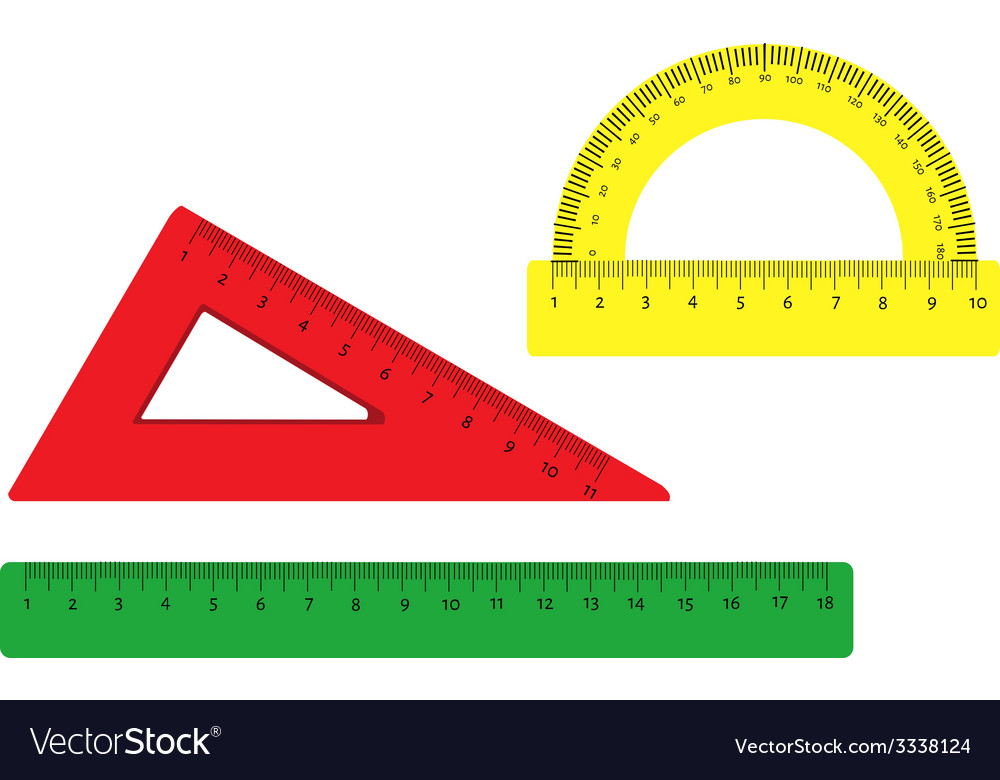 Rulers set vector