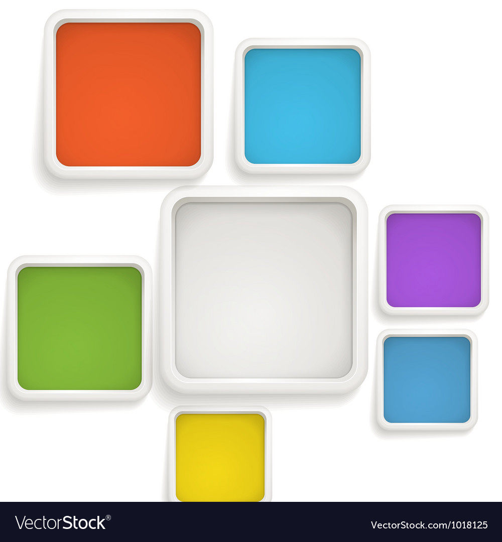 Abstract background of color boxes vector