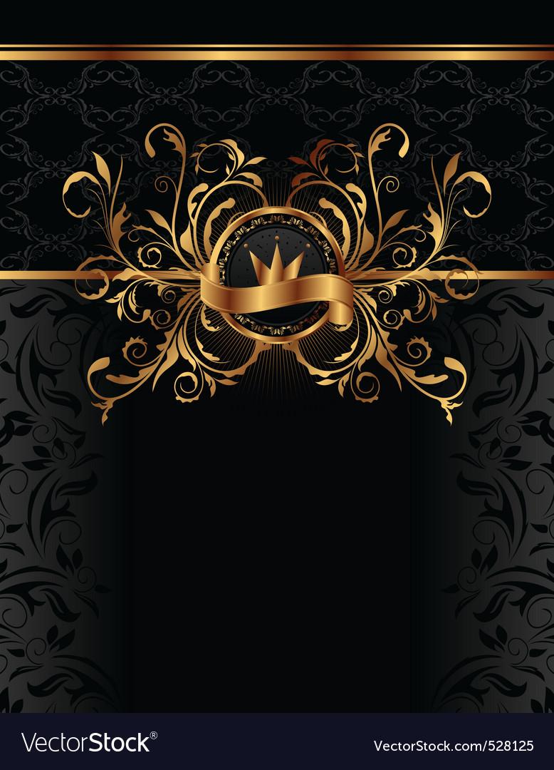 Royal background with golden frame vector