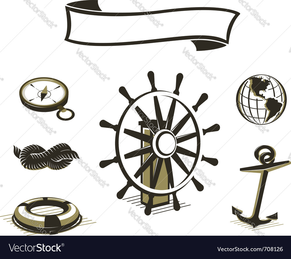 Sea icons set vector