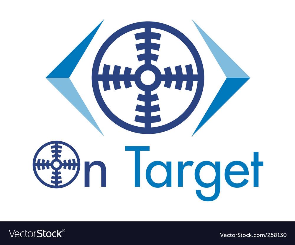 On target logo vector