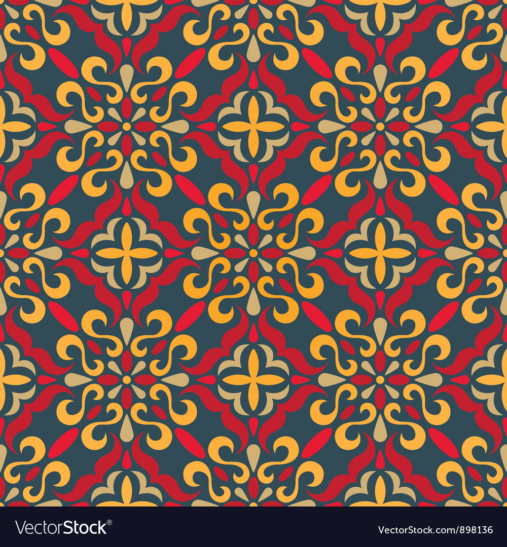 Traditional seamless pattern vector