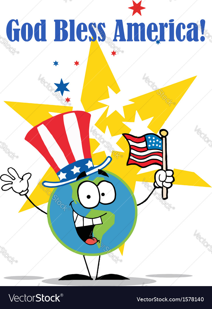 4th july cartoon vector