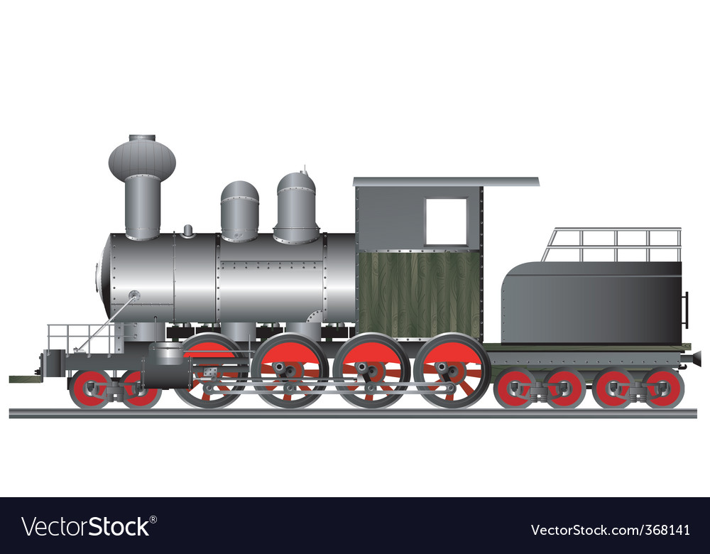 Vintage locomotive vector