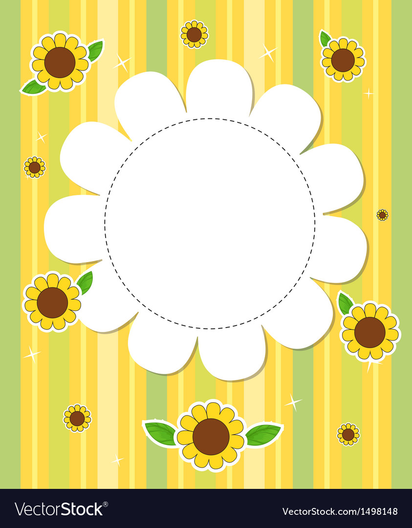 A stationery with sunflowers vector