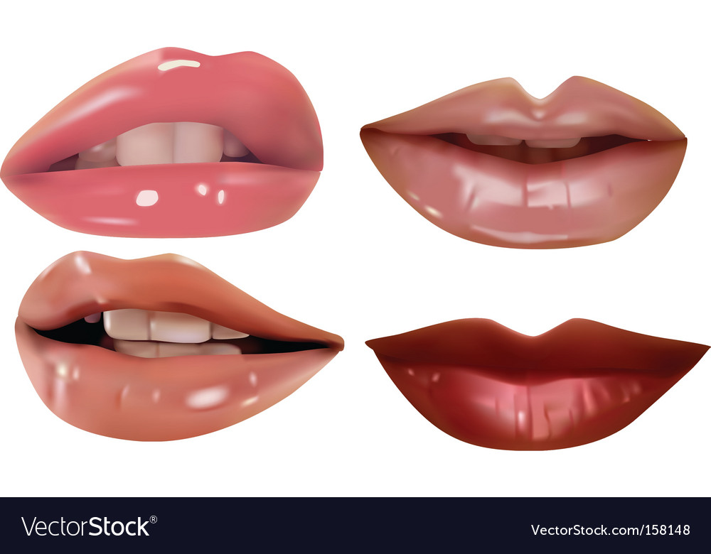 Lips set vector