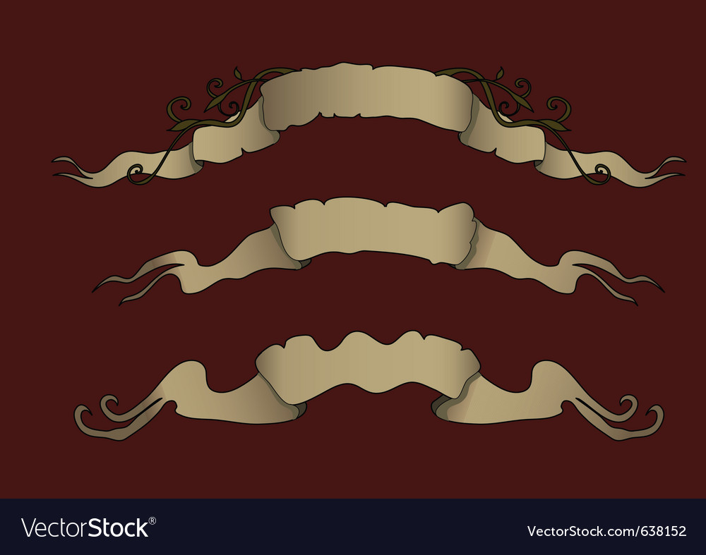 Victorian ribbons vector