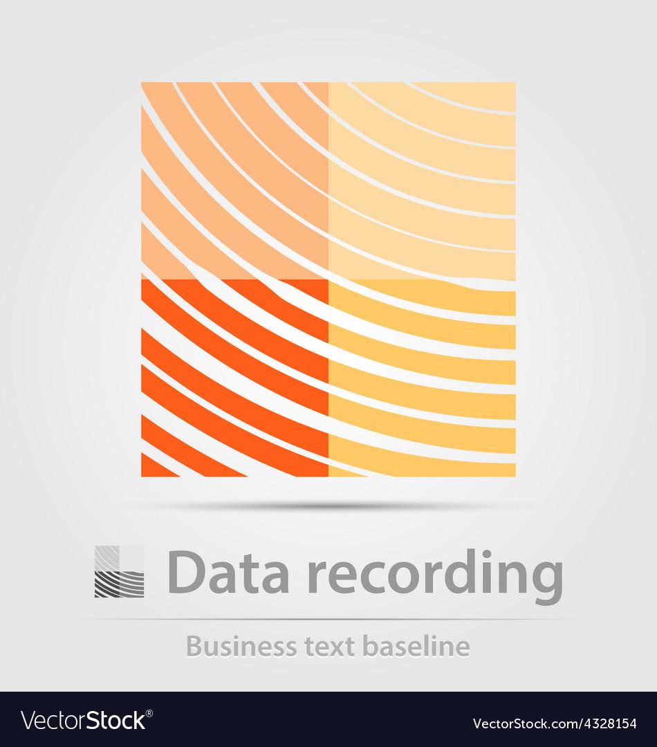 Data recording business icon vector