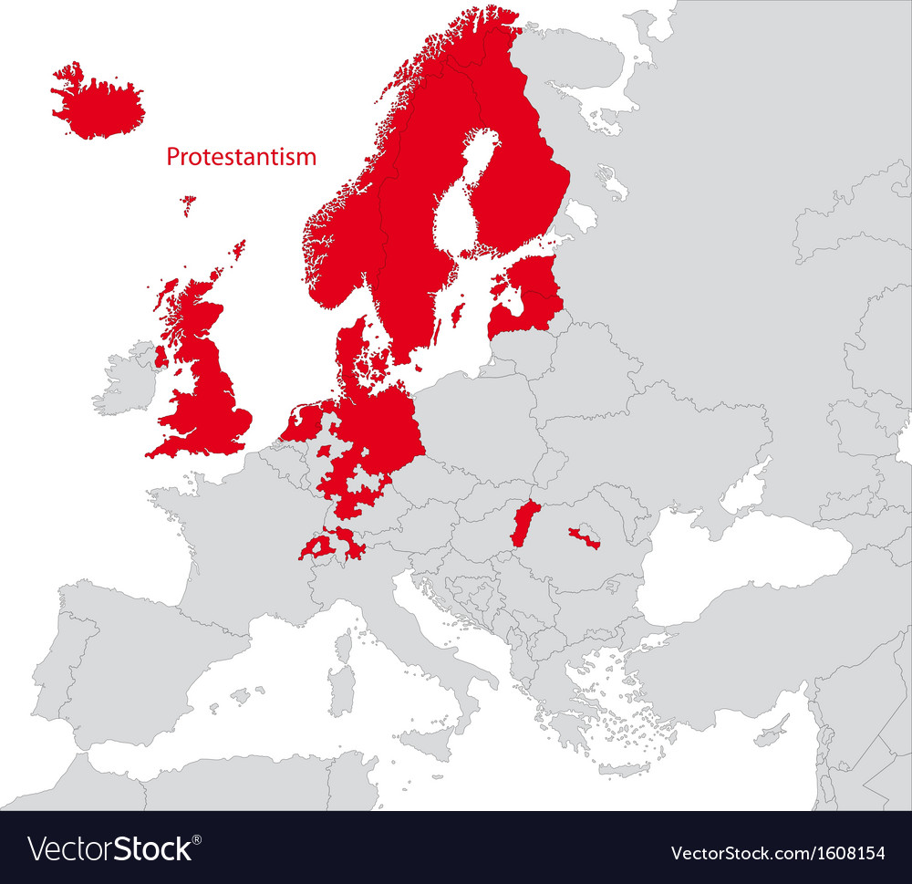 Protestantism in europe vector