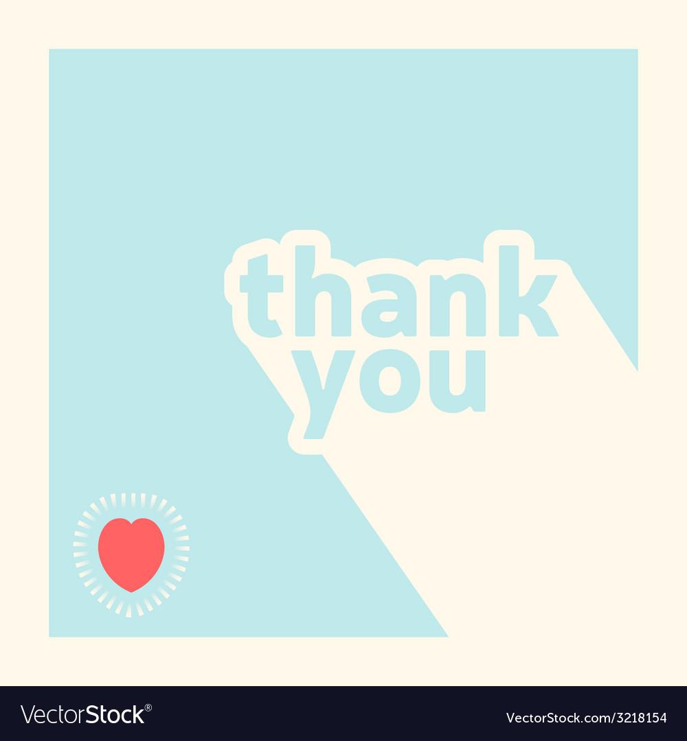 Thank you card design template vector