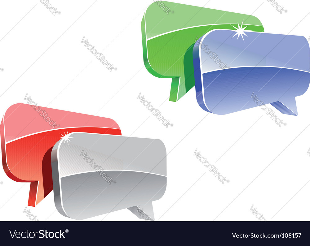 Speech or chat icon vector