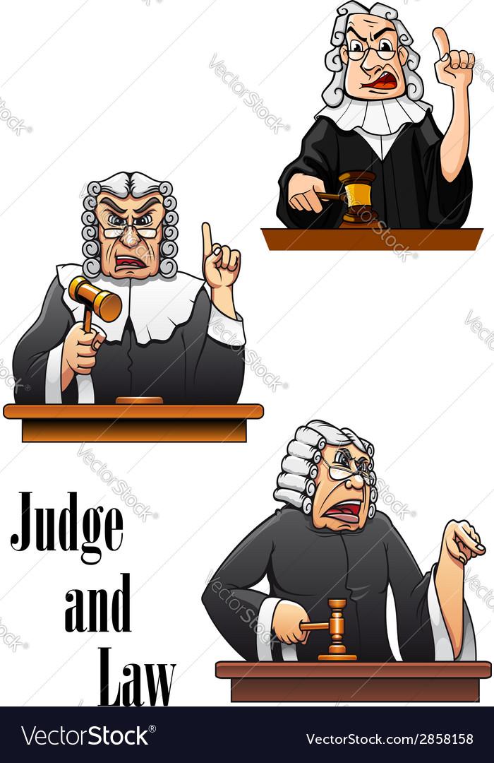 Cartoon judge characters vector