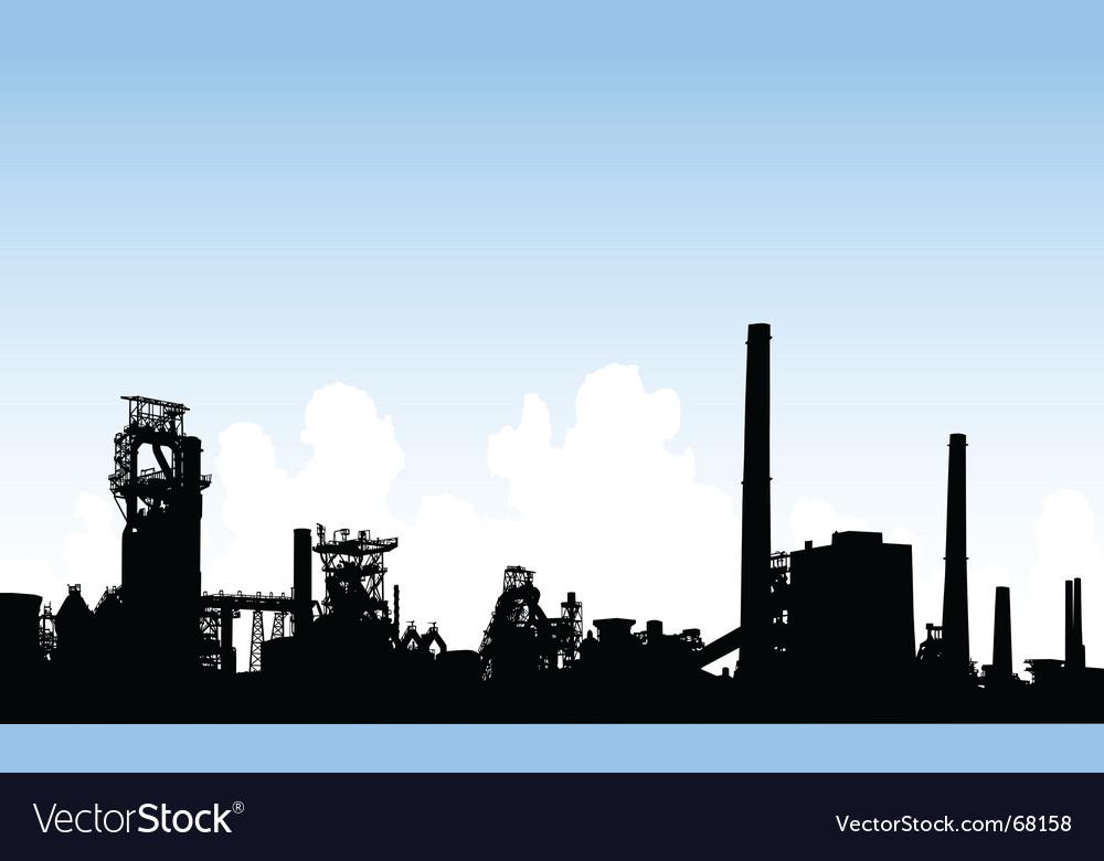Industrial skyline vector