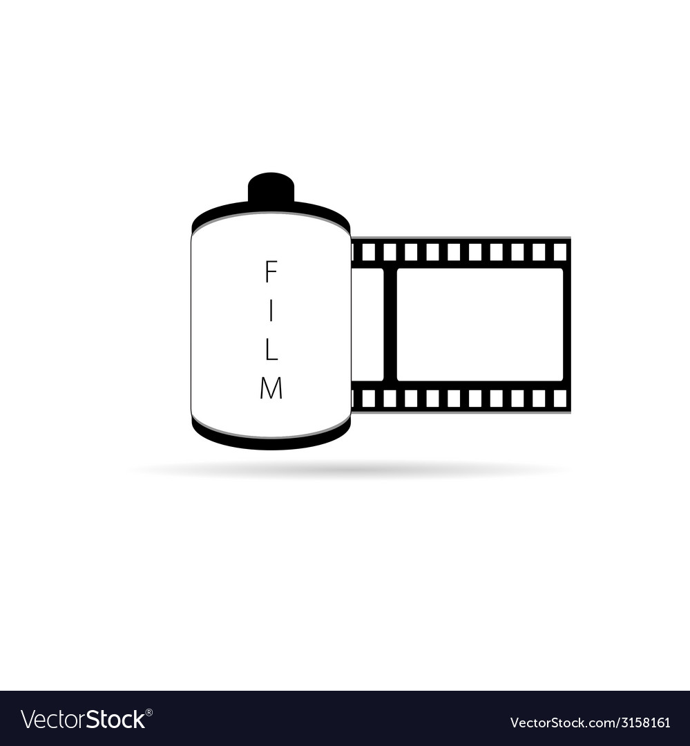 Camera film icon vector