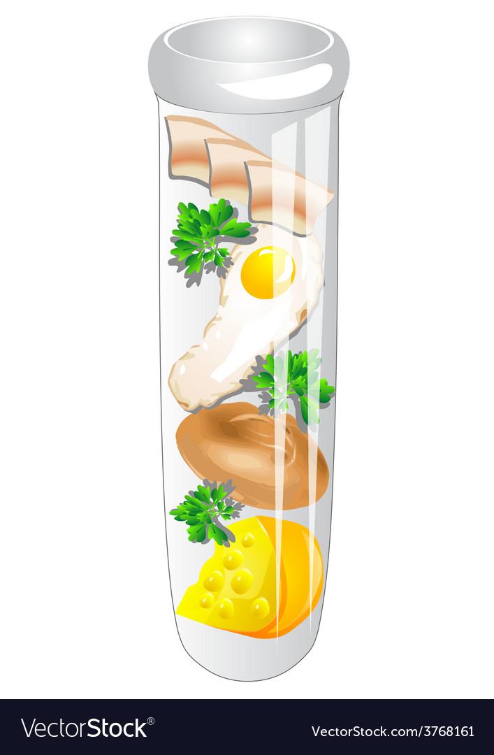 Test tube food vector