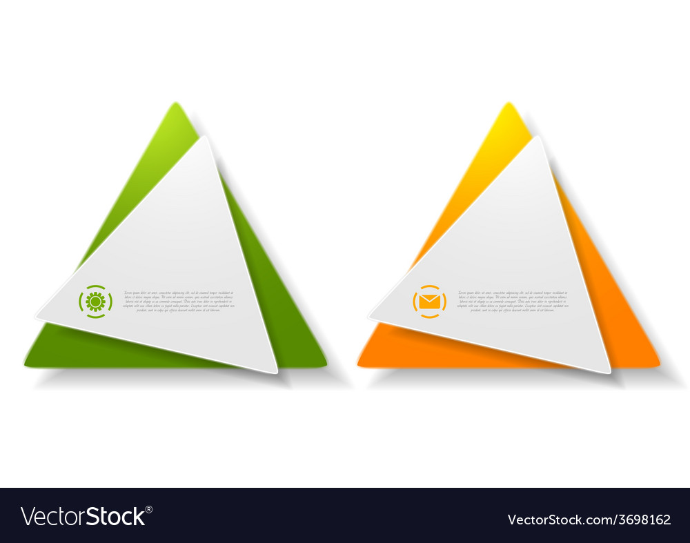 Abstract triangle shape sticker vector