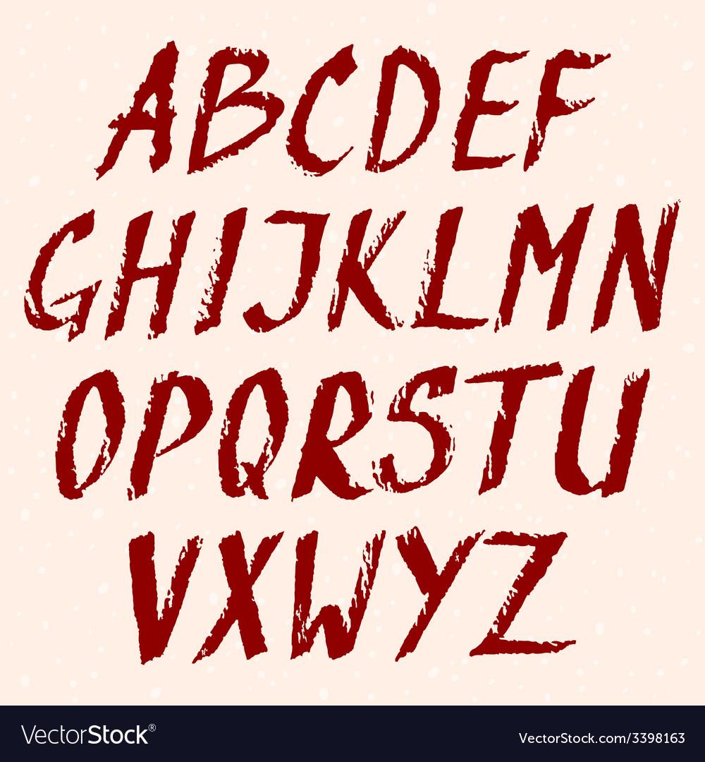 Grunge font look my portfolio for same design vector