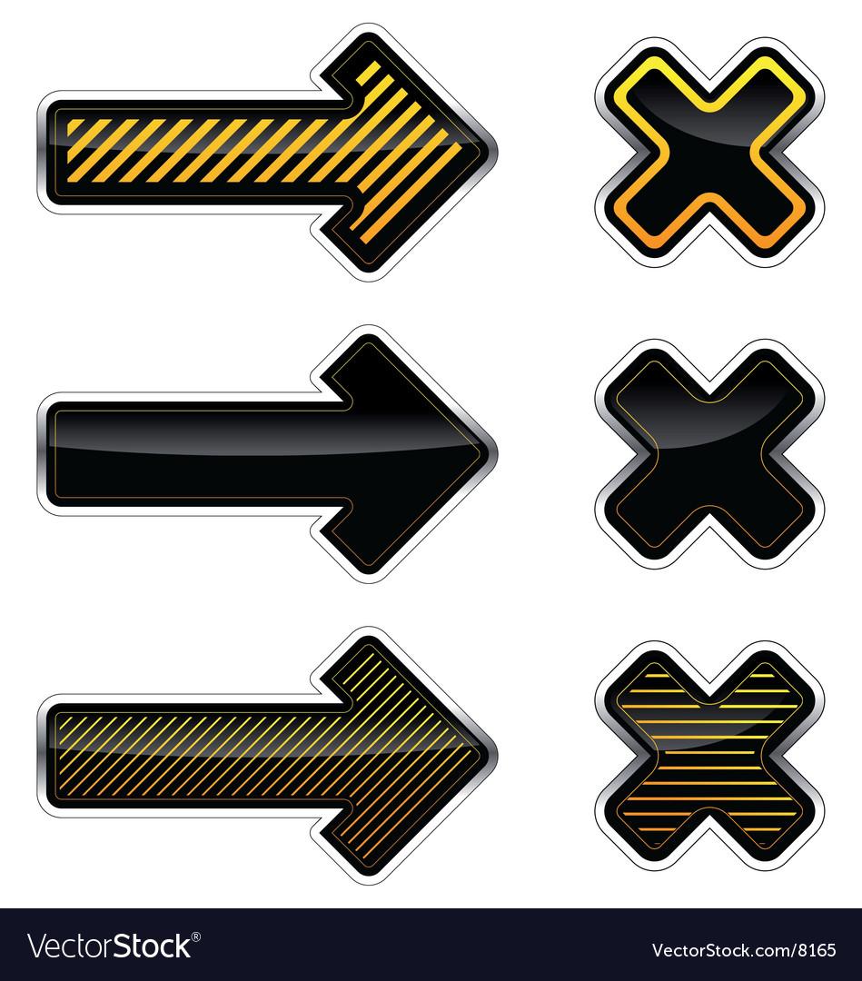 Arrows and crosses vector