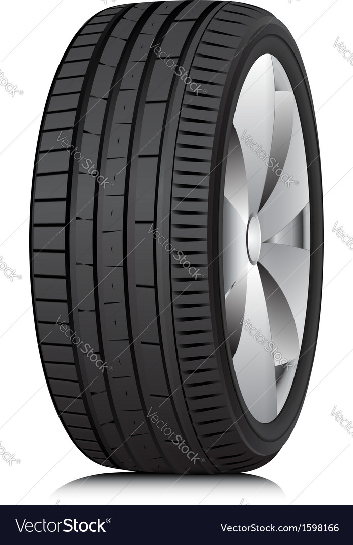 Tyre wheel vector