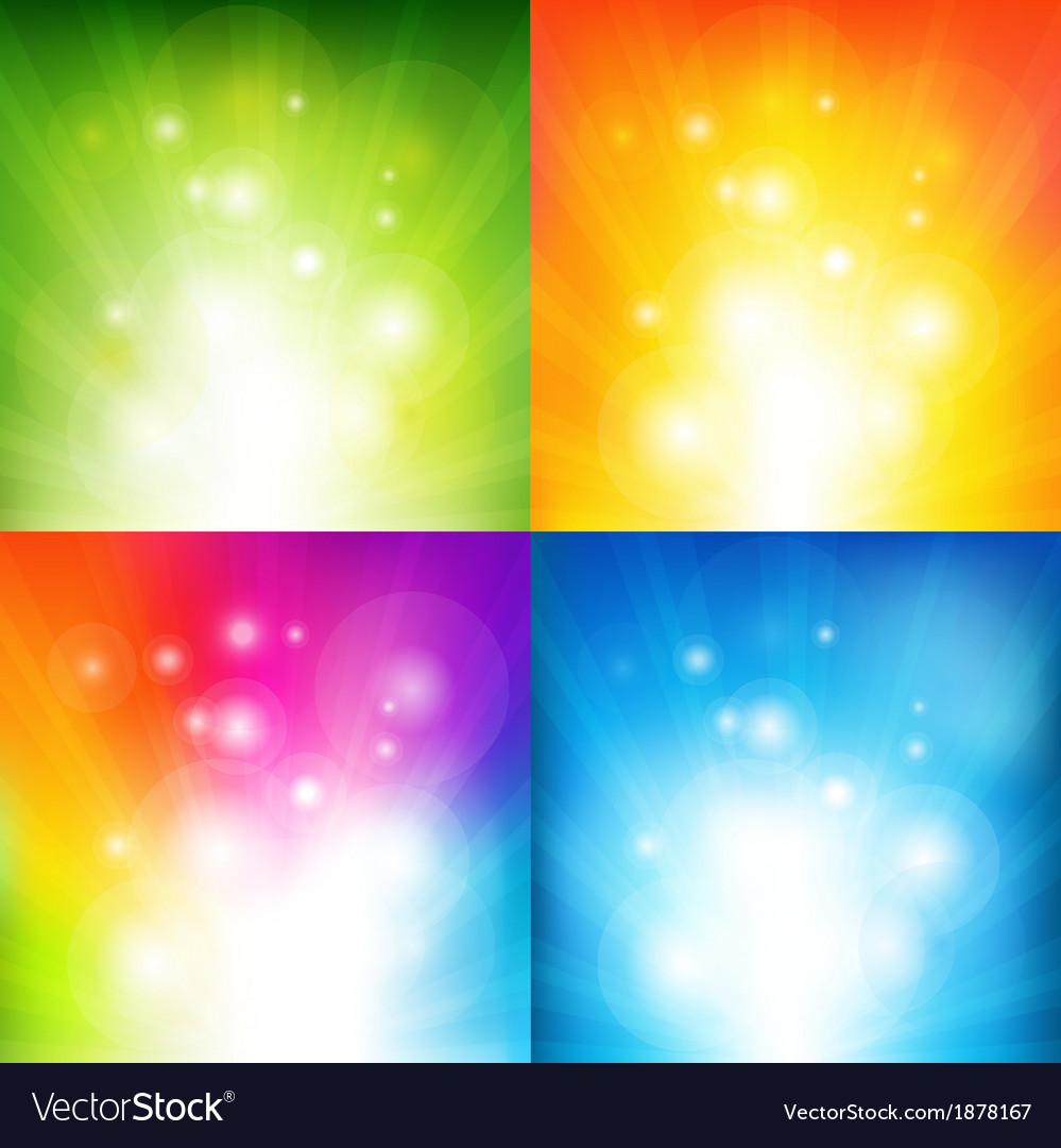 Color backgrounds with beams vector