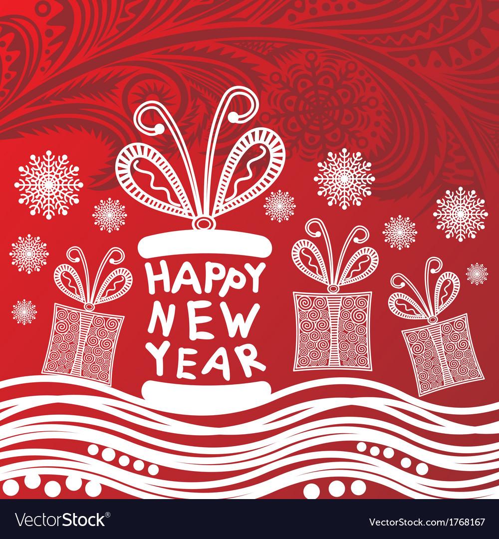 Happy new year card vector