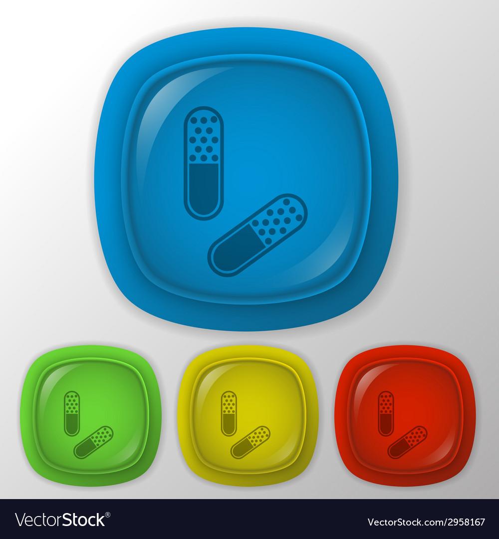 Pill tablet vector