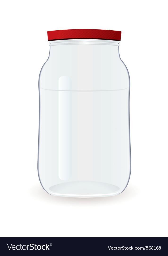 Empty jam jar vector