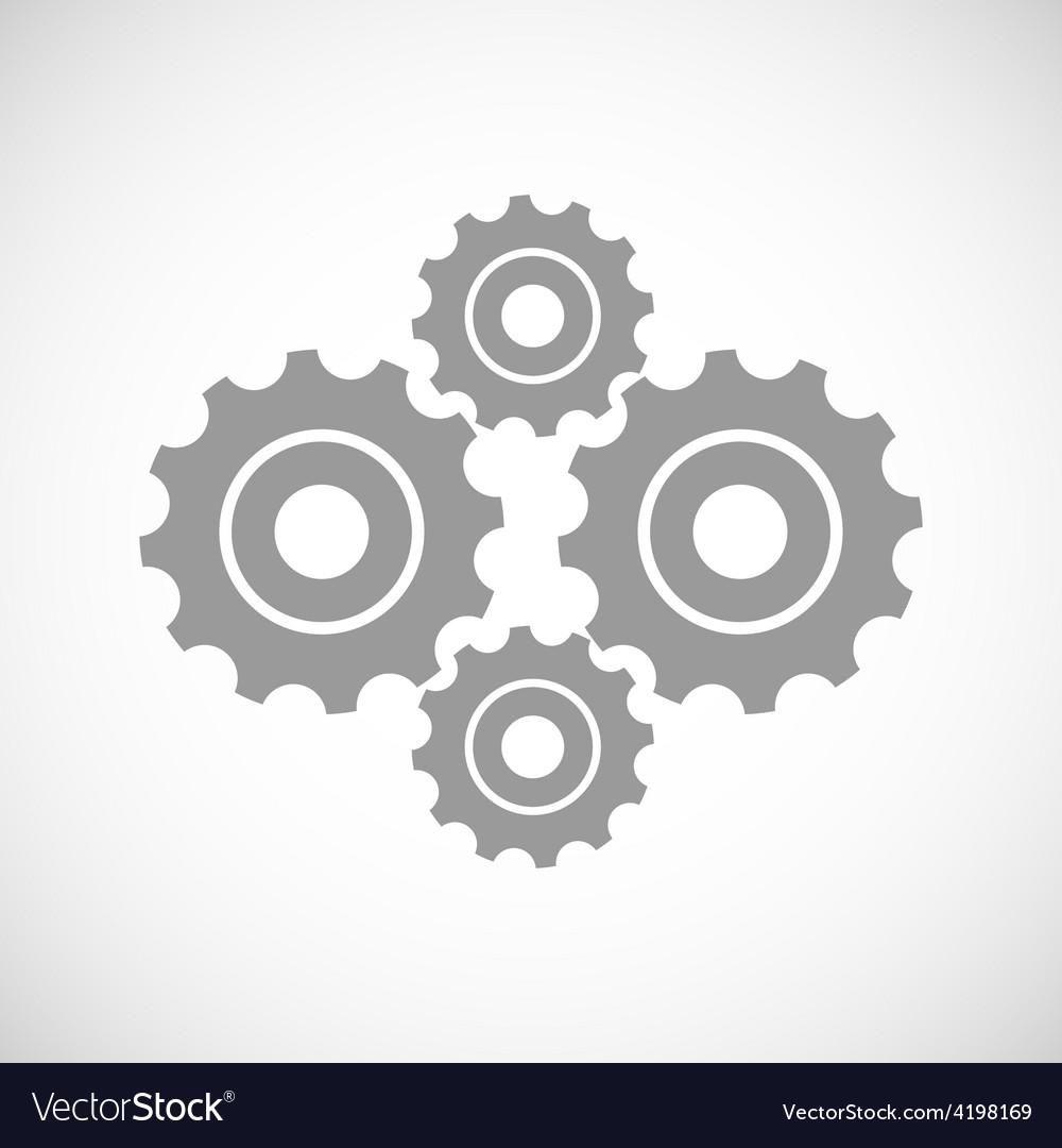 Mechanism black icon vector