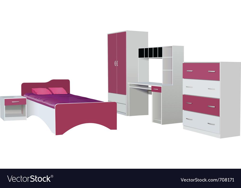 Kids room vector