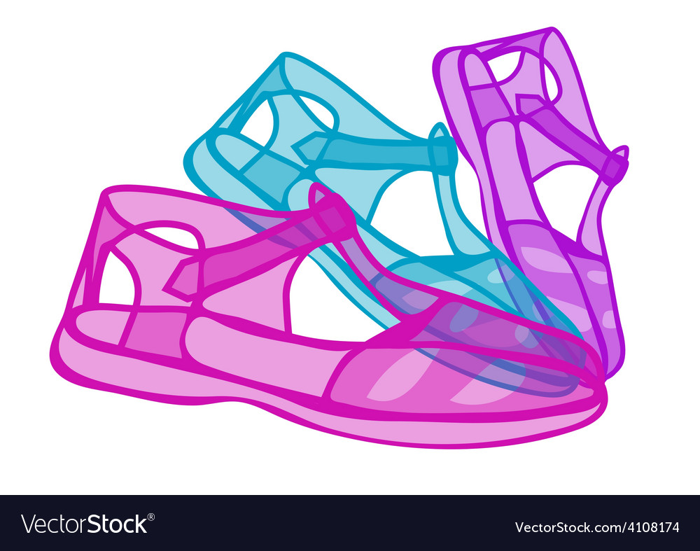 Jelly shoes vector