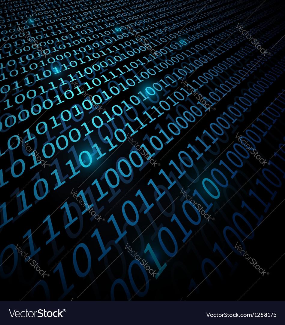 Binary data background vector