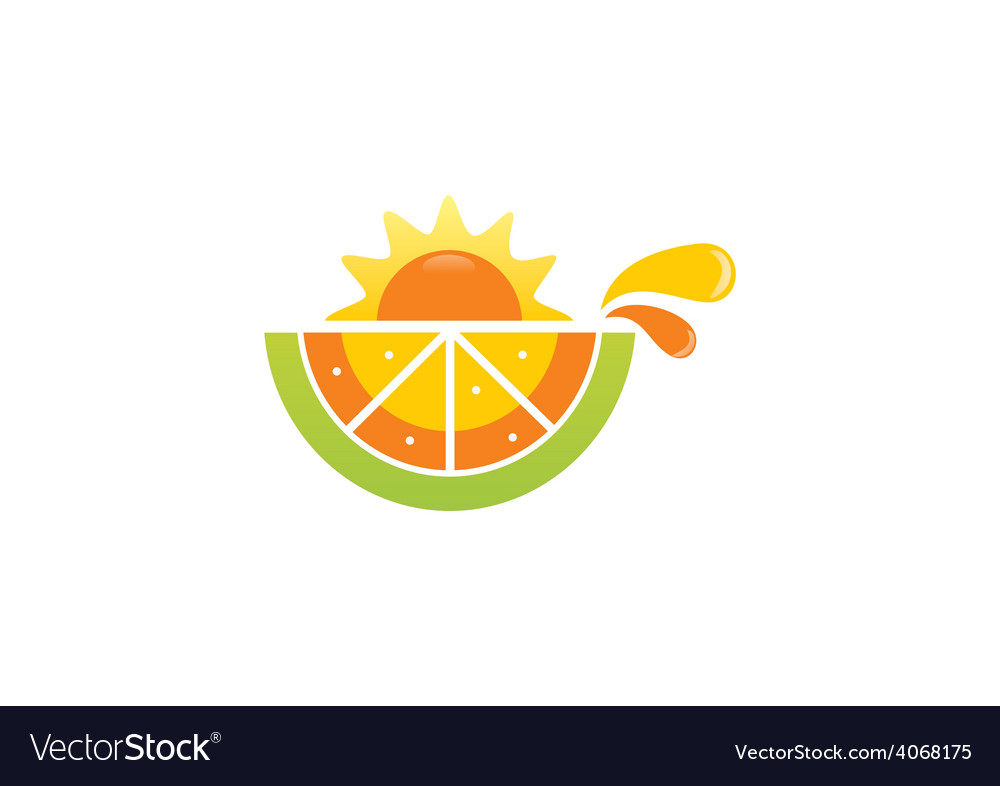 Fruit nutrition fresh sunny day design element vector
