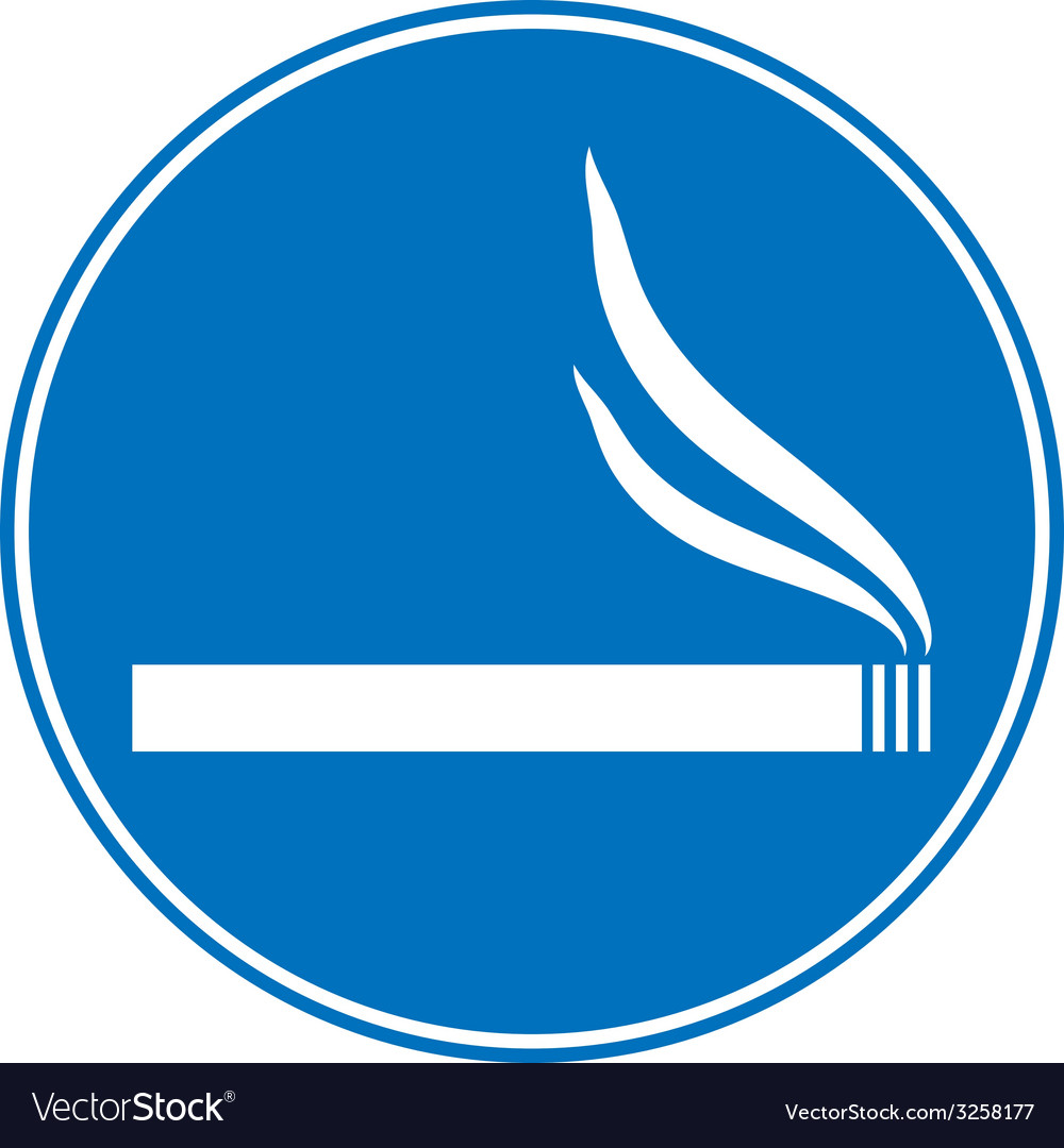 Sign smoking allowed vector