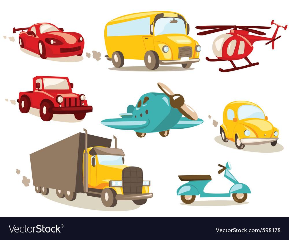 Transport cartoons vector