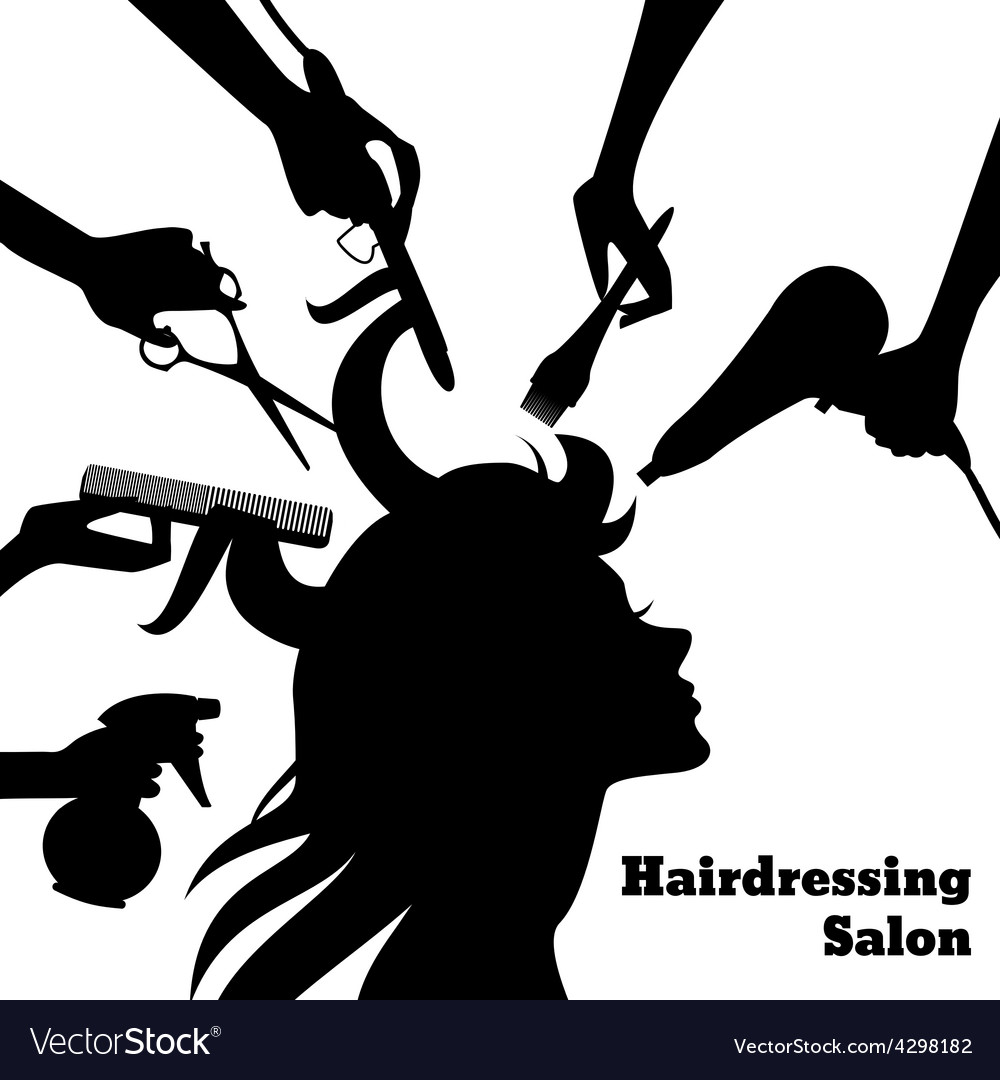 Beauty salon concept vector