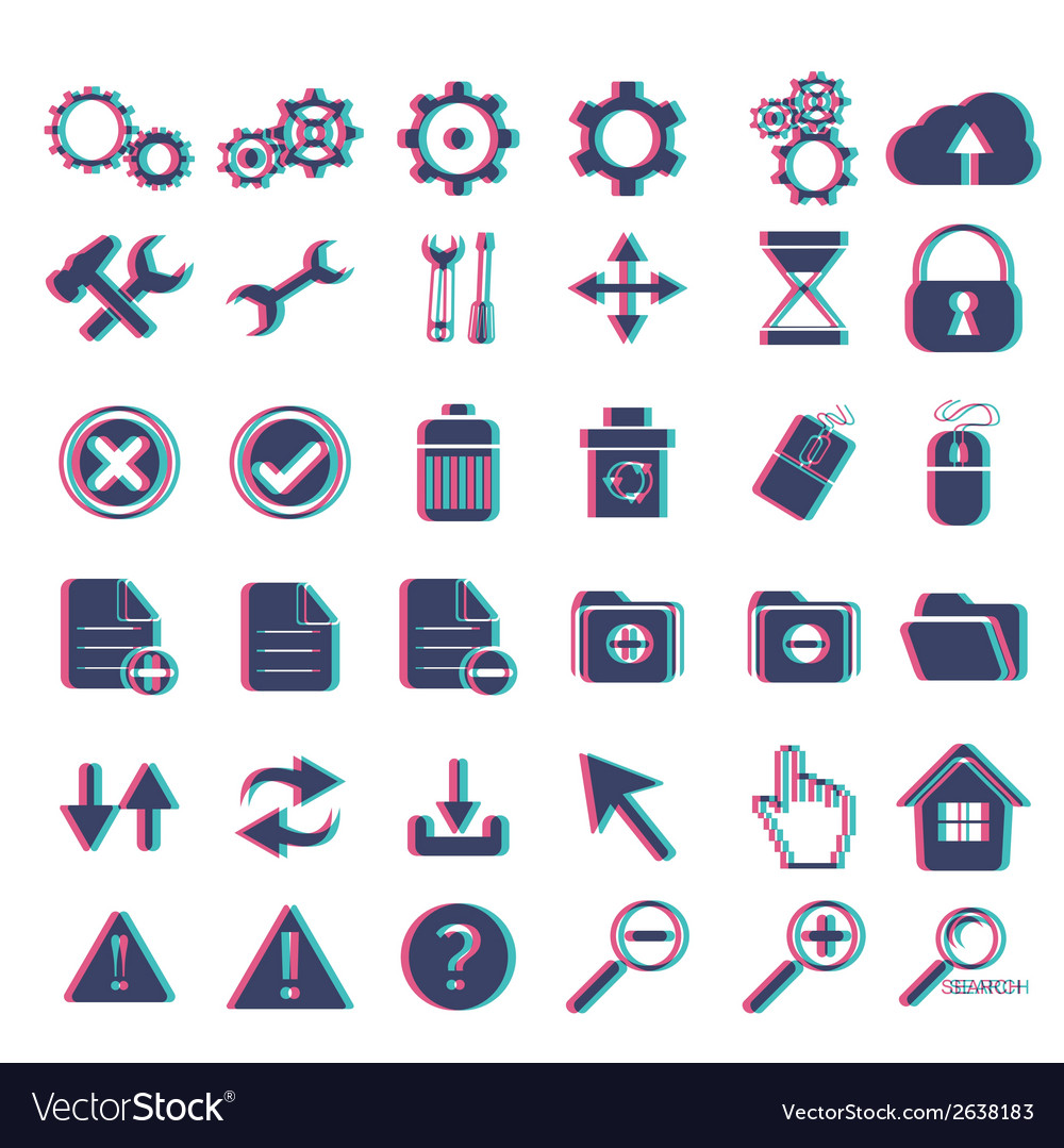 Basic web icon set vector