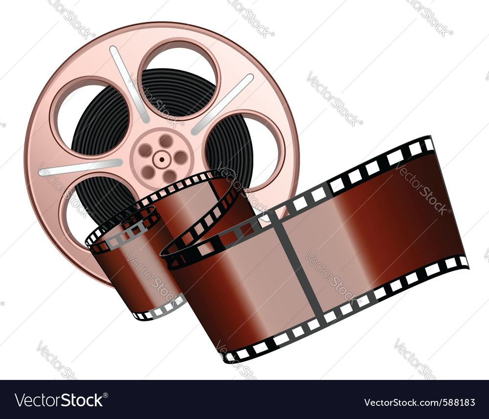 Film roll and strip isolated vector